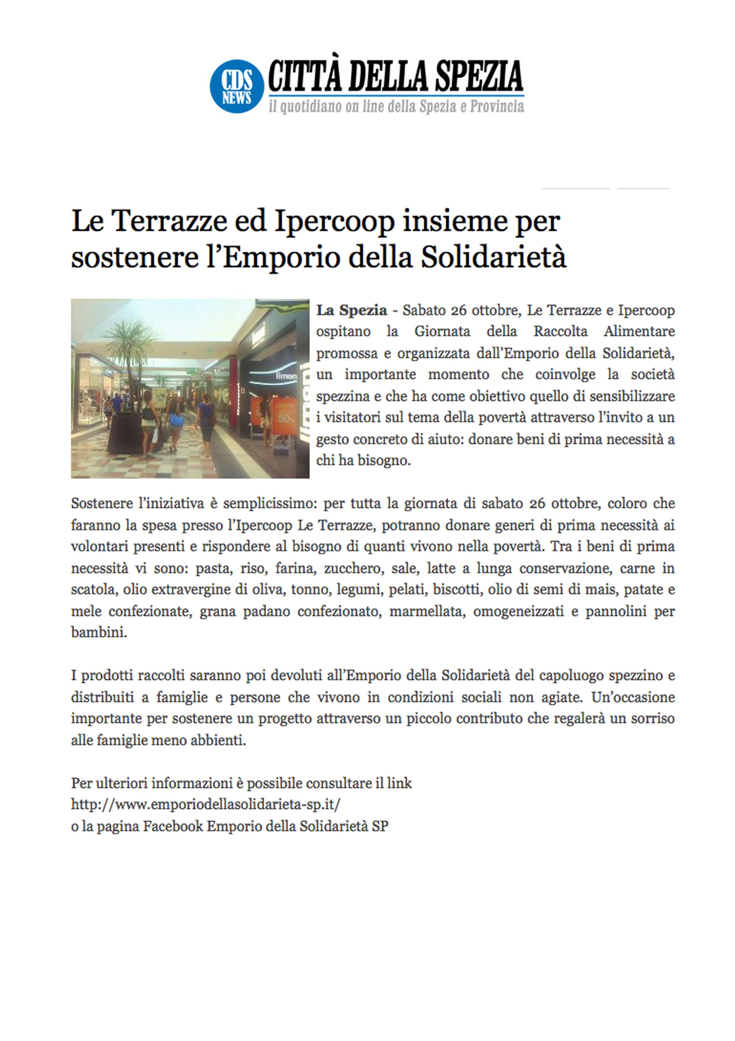 Emporio della solidarietà La Spezia